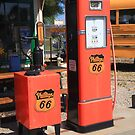 Route 66 Gas Pumps by Frank Romeo