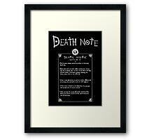 Ryuk's Death Note Framed Print