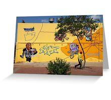 Public Wall Art & Graffiti Greeting Card