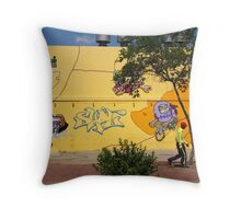 Public Wall Art & Graffiti Throw Pillow