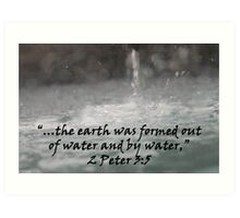 """2 Peter 3:5""  by Carter L. Shepard Art Print"