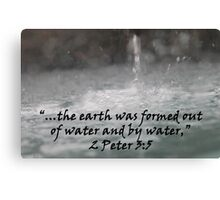 """""""2 Peter 3:5""""  by Carter L. Shepard Canvas Print"""
