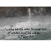 """2 Peter 3:5""  by Carter L. Shepard Photographic Print"