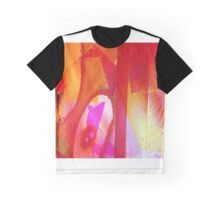 Orange and Pink Abstract Graphic T-Shirt