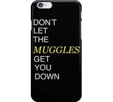 Muggles Print Hufflepuff iPhone Case/Skin