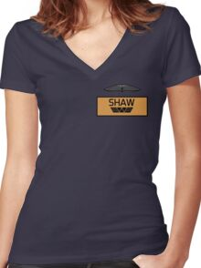 Elizabeth Shaw's Name Tag Women's Fitted V-Neck T-Shirt
