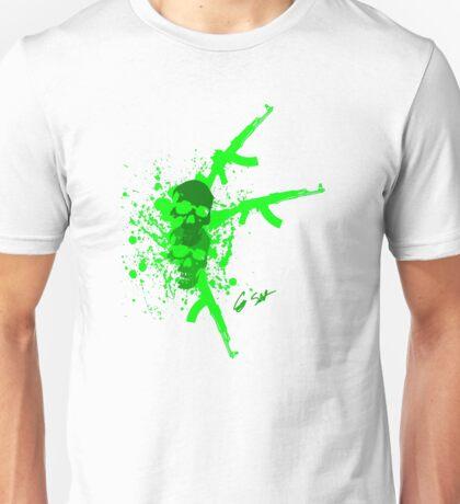 skull and guns Unisex T-Shirt