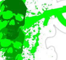skull and guns Sticker