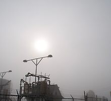 Platform At Petrocor In The Fog by Gary Chapple