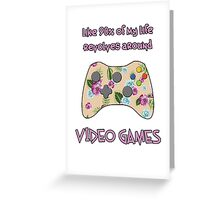 Floral video game controller Greeting Card