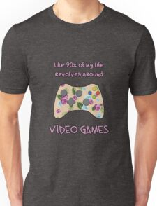 Floral video game controller Unisex T-Shirt