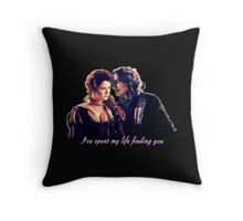 Rumbelle~I'll spend my life finding you Throw Pillow