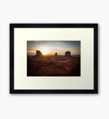 Sunrise, Monument Valley Framed Print