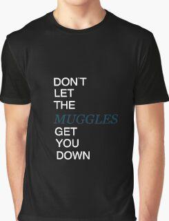 Muggles Print Ravenclaw Graphic T-Shirt