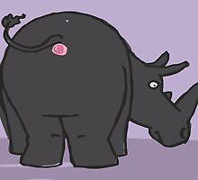 Bob's Burgers - Art Crawl - Anus Paintings - Rhino! by jjdough