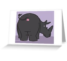 Bob's Burgers - Art Crawl - Anus Paintings - Rhino! Greeting Card