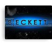 Beckett P.H.D Canvas Print