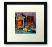 Beer and Tapas at Bar Peri Framed Print