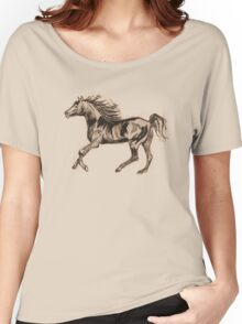 ARAB HORSE SEPIA   TEE SHIRT/KIDS CLOTHES/STICKER Women's Relaxed Fit T-Shirt