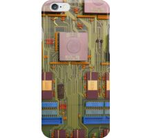 Retro Circuits #8 Blue in Green iPhone Case/Skin