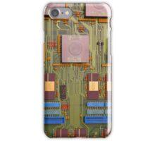 Retro Circuits #8 Blue in Green iPhone Case/Skin