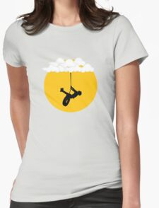 Swinging from the clouds... Womens Fitted T-Shirt