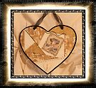 Music Themed Crazy Quilt Heart by Sandra Foster