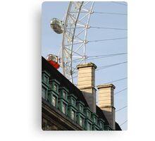 London Eye Crashing Into Building Canvas Print