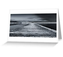 Newcastle Ocean Baths - The Path Greeting Card