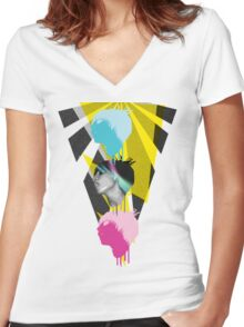 Triple Threat Women's Fitted V-Neck T-Shirt