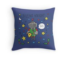Silent Knight Throw Pillow