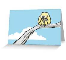 A Lonely Gibbon Greeting Card