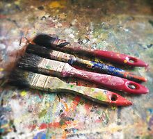 Four Paintbrushes by eyeshoot