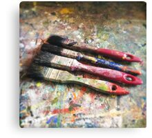 Four Paintbrushes Canvas Print