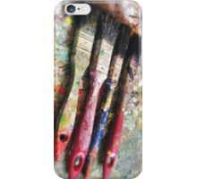 Four Paintbrushes iPhone Case/Skin