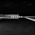 Newcastle Ocean Baths at Night, mono by bazcelt