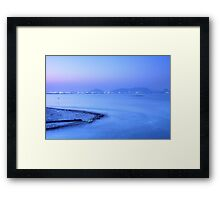Sunset coast in Hong Kong Framed Print