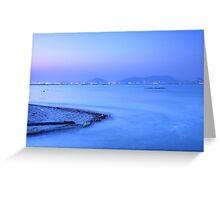 Sunset coast in Hong Kong Greeting Card