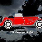 1952 Morgan Plus 4 drophead, vintage sports car by Dennis Melling