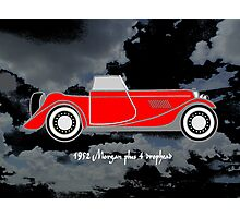 1952 Morgan Plus 4 drophead, vintage sports car Photographic Print