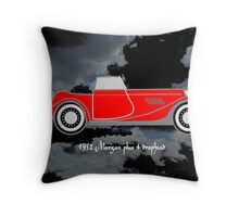 1952 Morgan Plus 4 drophead, vintage sports car Throw Pillow