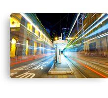 Night traffic in Hong Kong  Canvas Print