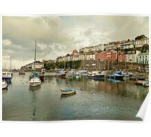 Brixham harbour 2 Poster