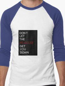Muggles Print Gryffindor Men's Baseball ¾ T-Shirt