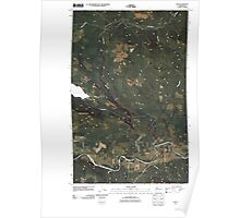 USGS Topo Map Washington State WA Oso 20110503 TM Poster