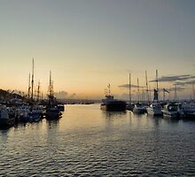 Sunset over Brixham by shalisa