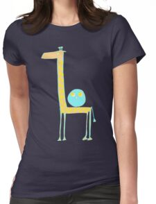Giraffe and Owl Womens Fitted T-Shirt