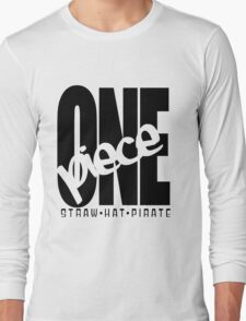 One Piece White Long Sleeve T-Shirt