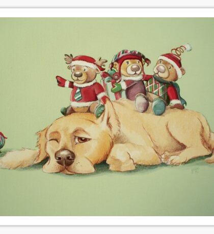 Beary Christmas Sticker