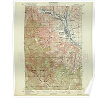 USGS Topo Map Washington State WA Wenatchee 244601 1915 62500 Poster